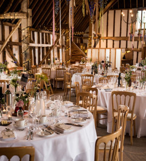 Beautiful dining area at Clock Barn  © Ian Martindale Photography