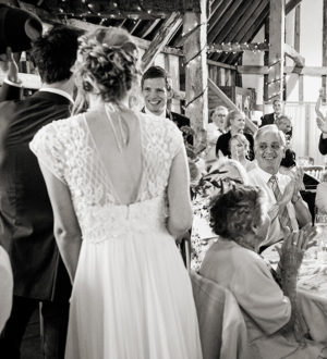 Family celebrating the wedding at Clock Barn  © Ian Martindale Photography