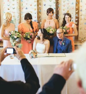 Signing of the register at Clock Barn © New Forest Studio