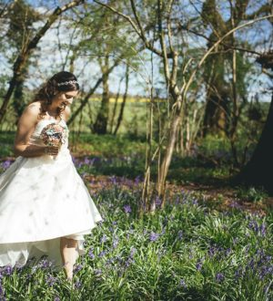 Bride in the grounds of Clock Barn © New Forest Studio