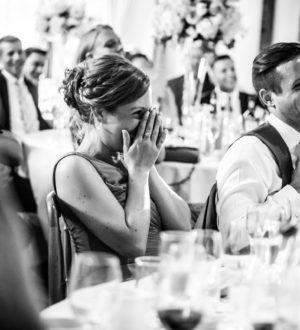 Bride crying at wedding © Mia Photography