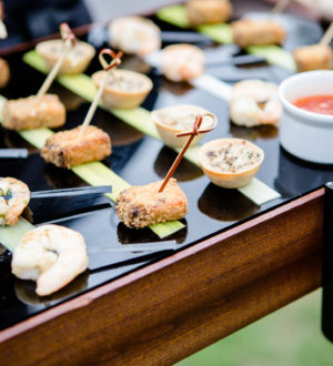 Canapes at Clock Barn © Lydia Stamps Photography
