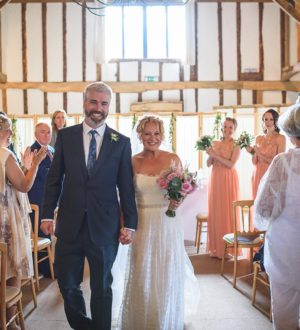 Just married at Clock Barn © Guy Collier Photography