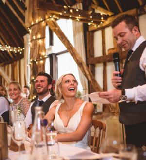 Groom giving his wedding speach © Jackson & Co Photography