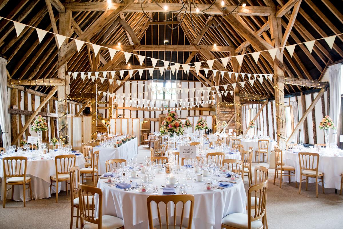 Barn Wedding Venues.Barn Wedding Ideas Bunting Clock Barn Wedding Venues Hampshire