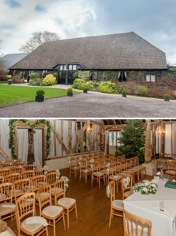 Clock barn prepared for a wedding
