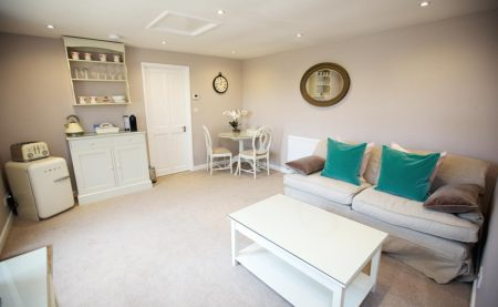 The Honeymoon Suite Living Area