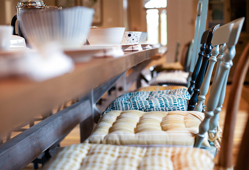 The morning after your wedding day at Clock Barn your family and friends can gather in the kitchen at the Tufton Warren Farmhouse for breakfast