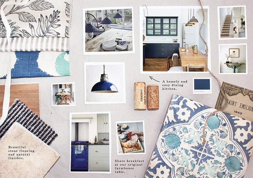 Tufton Warren Farmhouse - Hampshire wedding accommodation moodboard