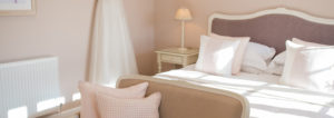 After the wedding at Clock Barn has ended newlyweds can head to the Lavender barn honeymoon suite