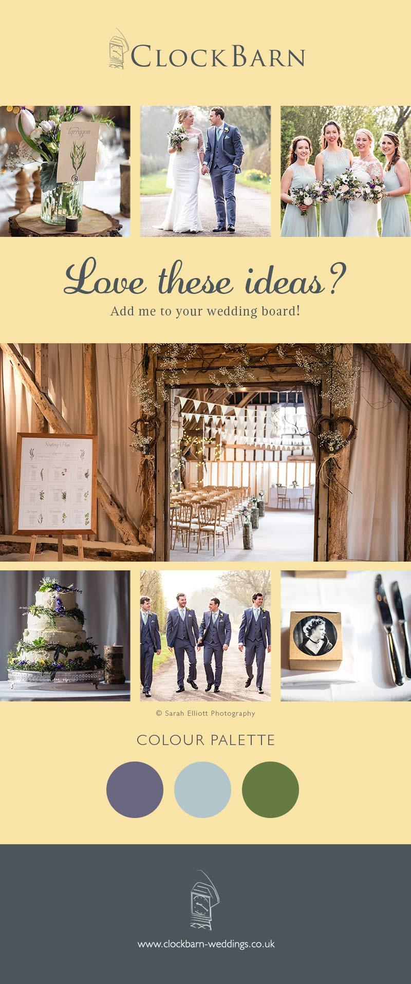 Emily & Tom Clock Barn wedding
