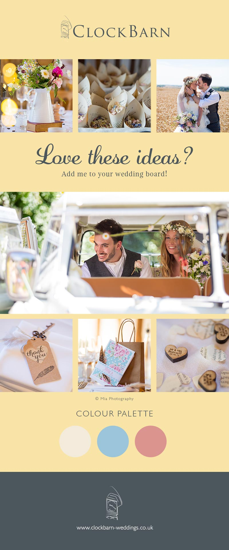 Laura and Mitch Clock Barn wedding