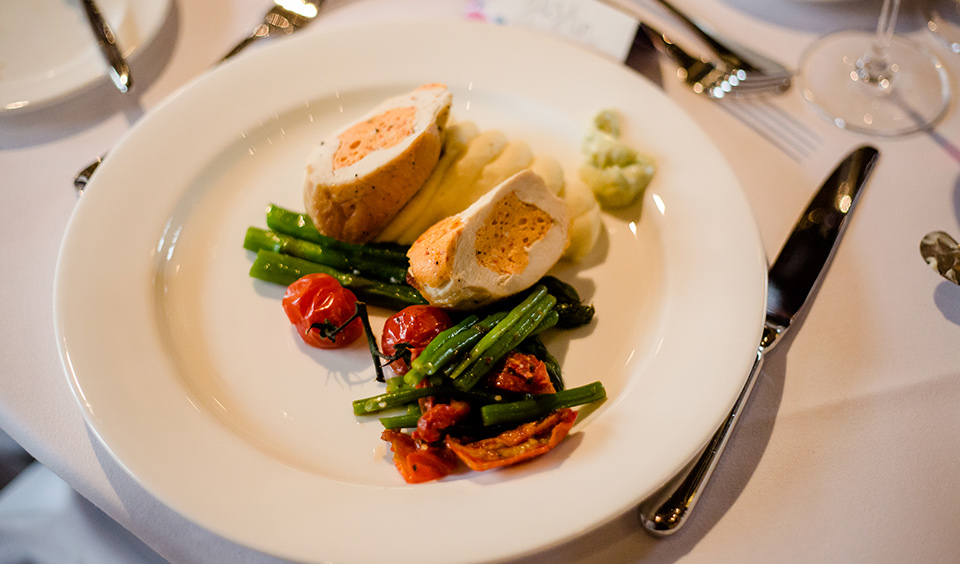 Expert wedding catering and quality food comes as standard at one of the pretties wedding venues in Hampshire