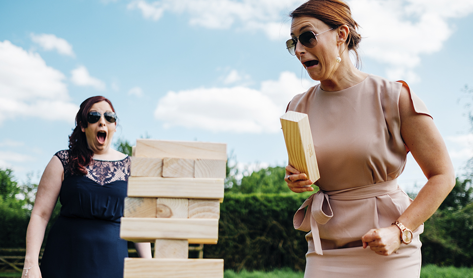 Everyone loves playing Jenga and what better way than to play giant Jenga in the sunshine – wedding ideas