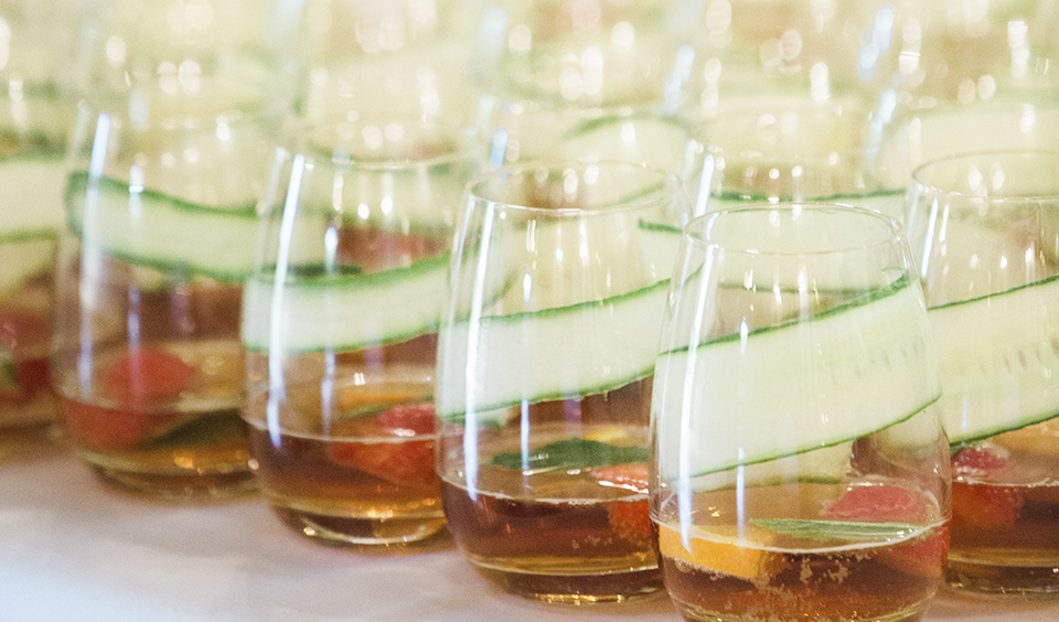 The best time to enjoy Pimms is of course summer, so why not serve up this summer wedding favourite to guests