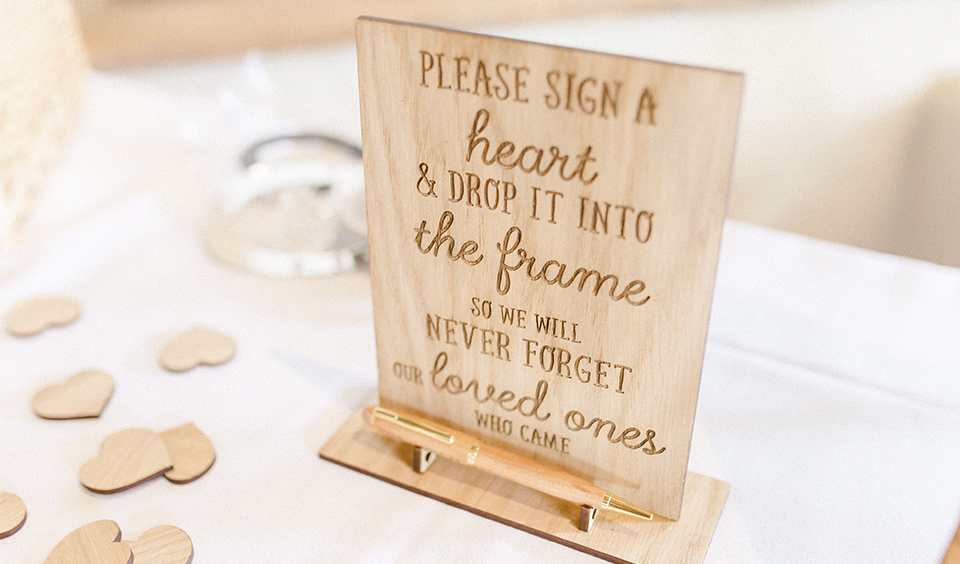 Wooden wedding signs are great as a rustic wedding decoration – barn wedding ideas