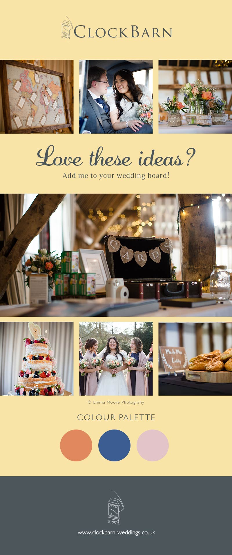 Janette and Joshua wedding at Clock Barn