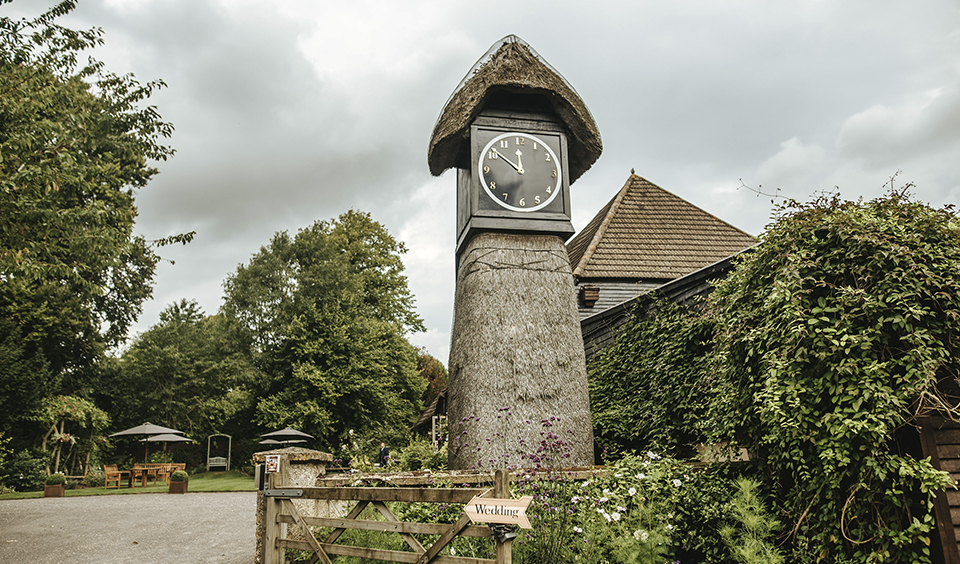 Clock Barn is one of the finest wedding venues in Hampshire with a unique clock tower outside