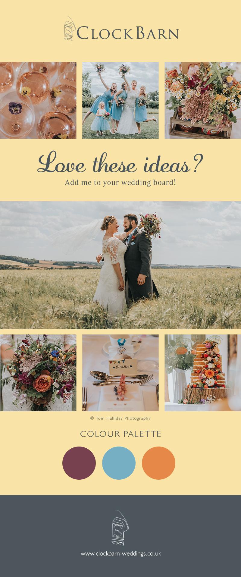 Abi and David's real life wedding at Clock Barn in Hampshire
