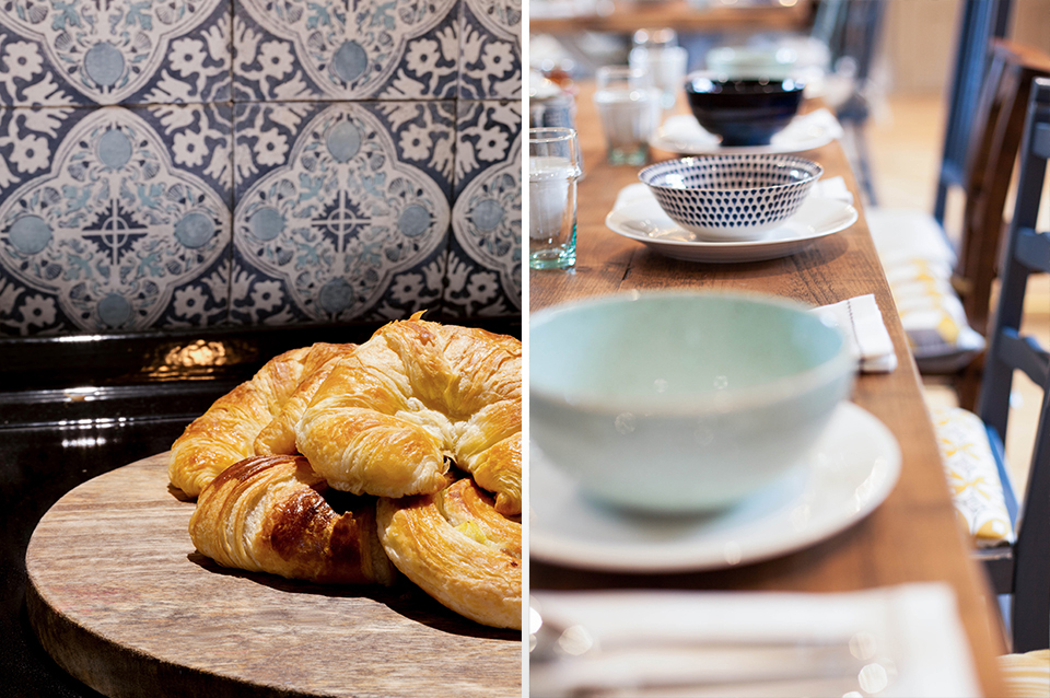 Pastry's and drinks set out for you to enjoy