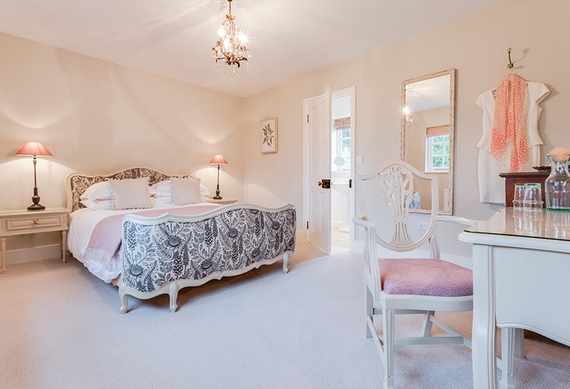 In the Tufton Warren Farmhouse wedding accommodation at Clock Barn there are nine bedrooms for your friends and family