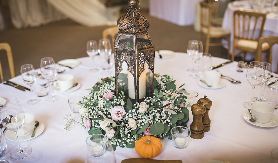 Miniature pumpkins make perfect autumn decorations and look great displayed alongside table centrepieces