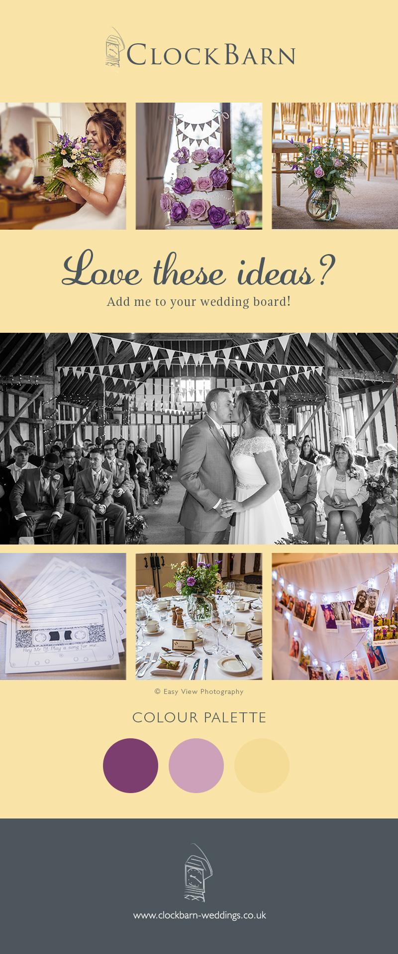 Lucy-Jane and matthew's real life wedding at Clock Barn