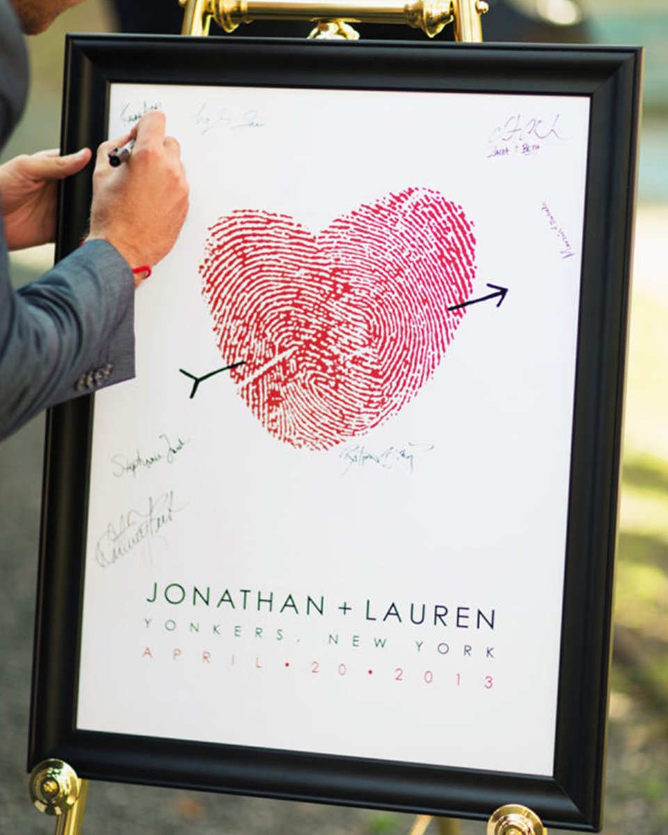 Personalised wedding message boards are a great alternative option to the traditional guest book for your Clock Barn wedding
