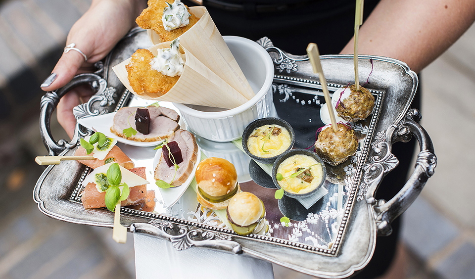 These exquisite canapes will wow your guests at your spring wedding at Clock Barn in Hampshire