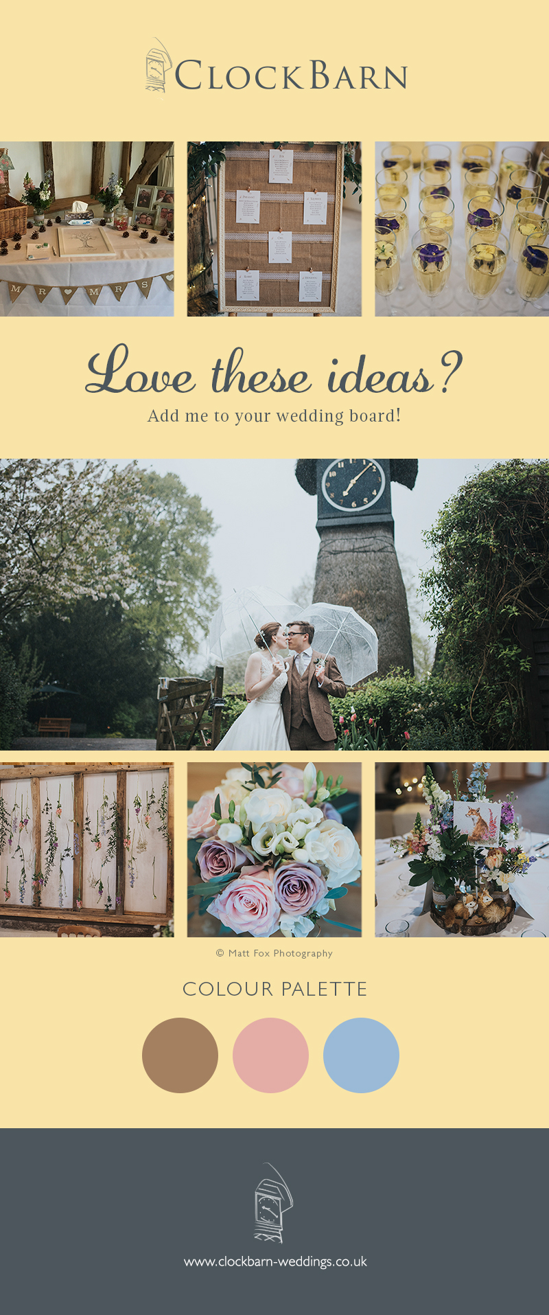 Sarah and Joseph's woodland spring wedding at Clock Barn