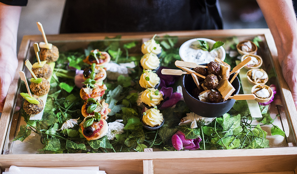 These mouth-watering canapes will delight your guests at your drinks reception at Clock Barn