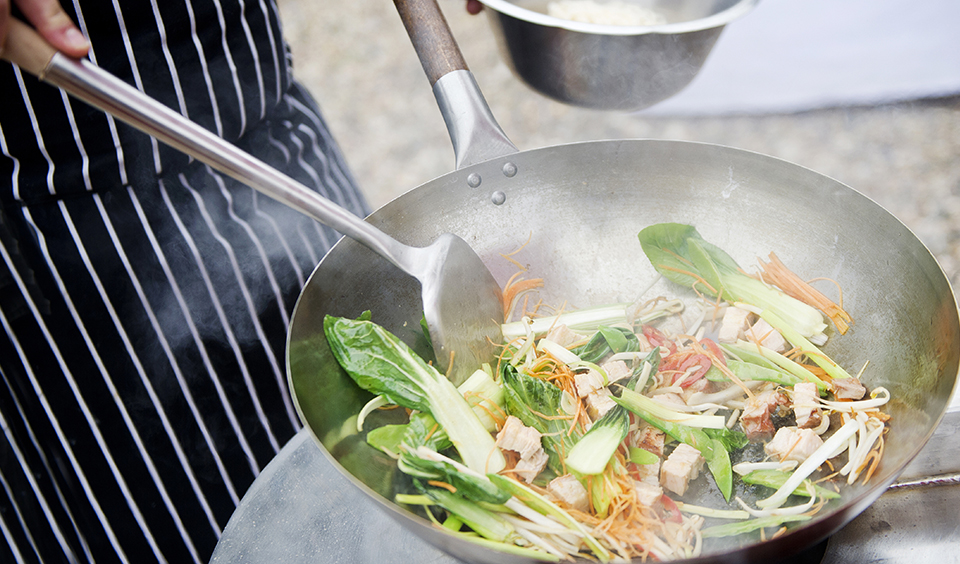 Street-food style is the perfect evening food option for your spring wedding at Clock Barn in Hampshire
