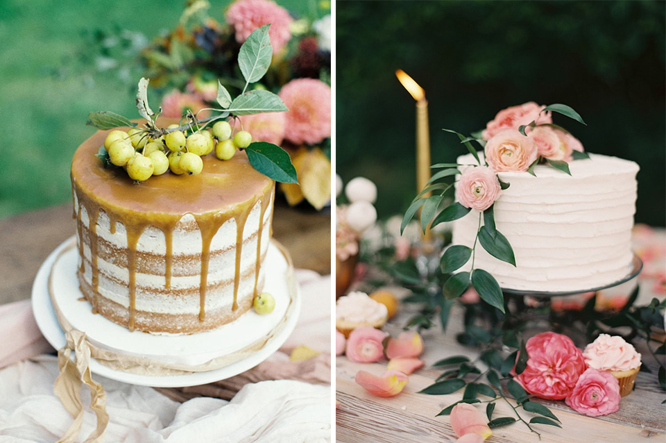 These delicious single tier wedding cakes would be perfect for your wedding at Clock Barn in Hampshire