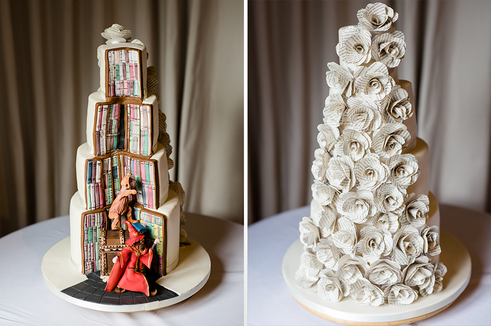 These quirky three-tier wedding cakes would impress your wedding guests at Clock Barn in Hamphire