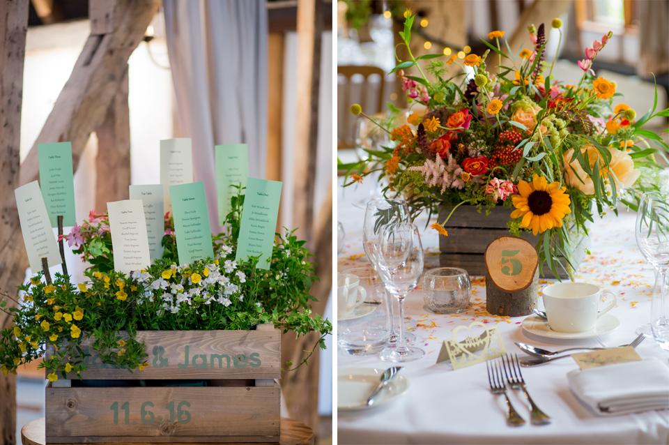 Summer Wedding Themes and styling at Clock Barn